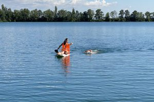 Tempotraining der TG in Laupheim - Schwimmen